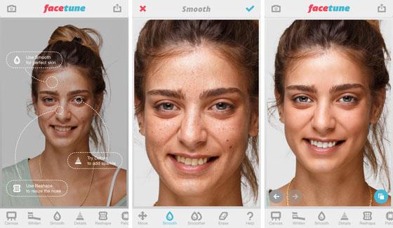 A Facetune applikáció leginkább egy portré és szelfi fotószerkesztő