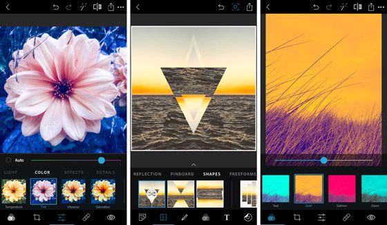 A Photoshop Express szinte minden alapvető korrekciós eszközt tartalmaz
