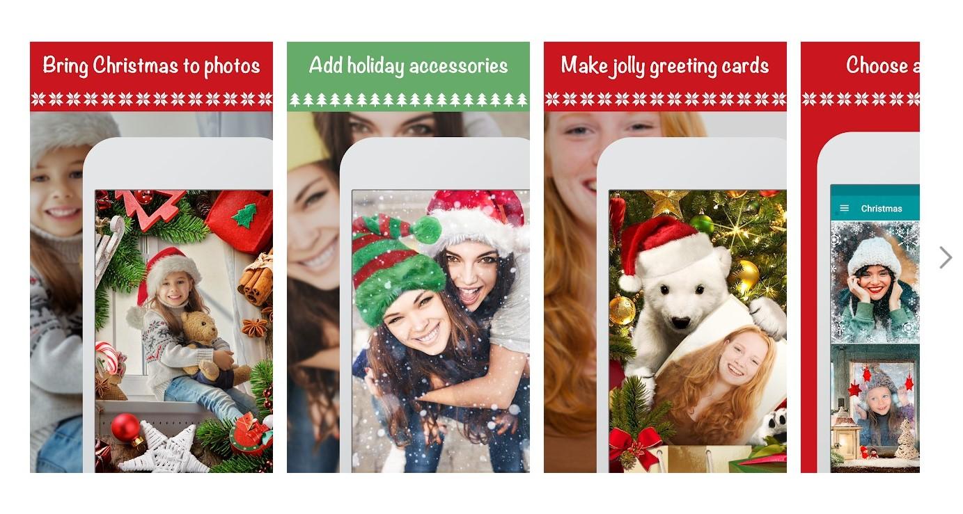 Christmas Photo Frames, Effects & Cards Art - A 7 legjobb karácsonyi képszerkesztő online