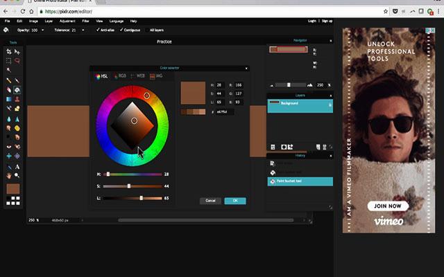 Könnyen használható a Pixlr szoftver, ami olyan eszközökkel rendelkezik