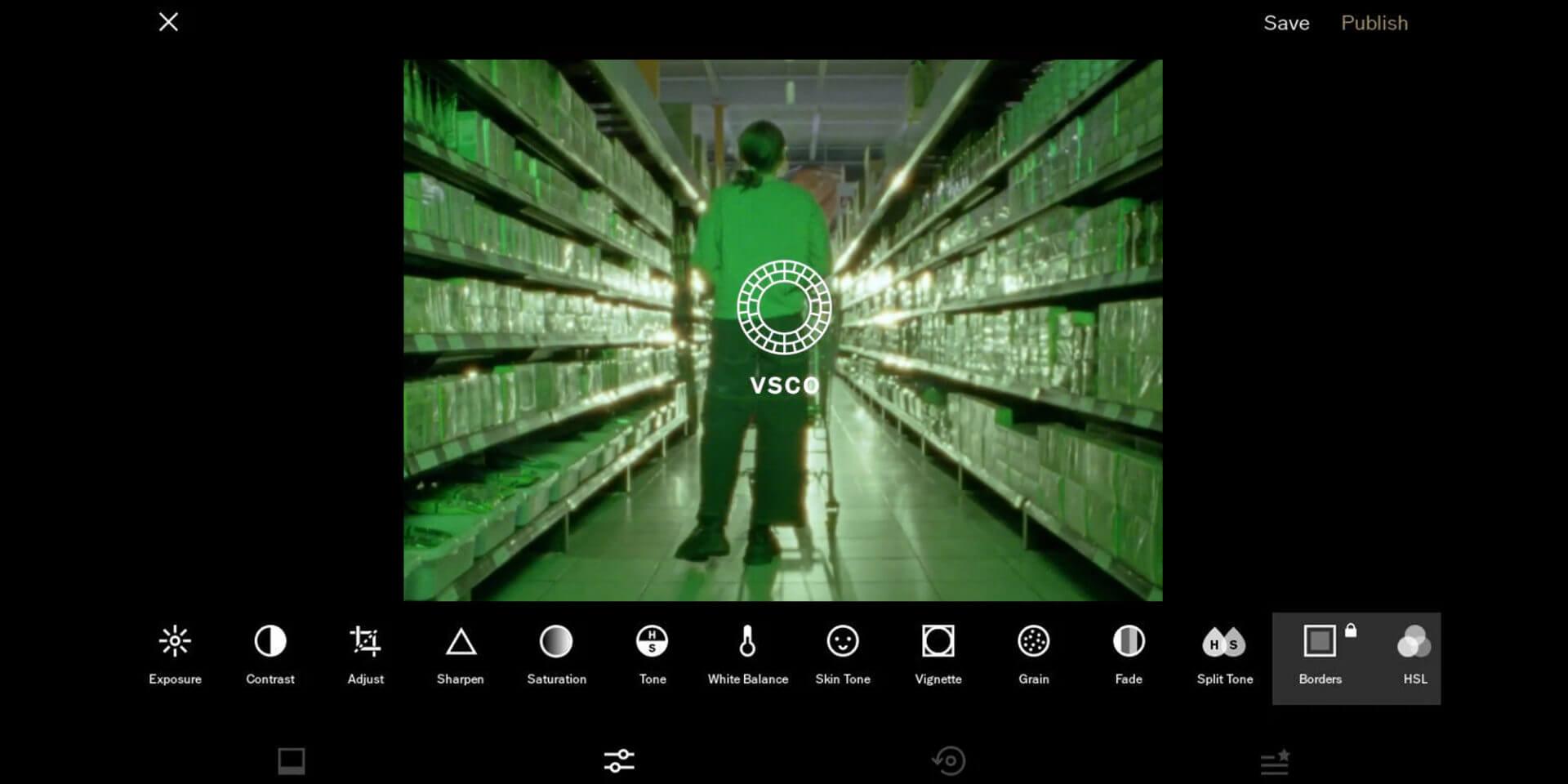 VSCO képszerkesztő app