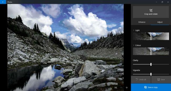 Microsoft Windows 10 Fotók- ingyenes képszerkesztő