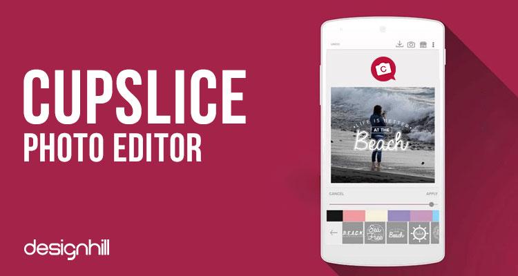 Cupslice Photo Editor képszerkesztő android rendszerre