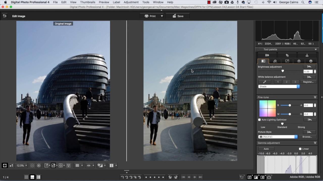 Digital Photo Professional a Canon számára - ingyenes képszerkesztő
