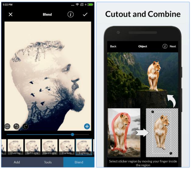 LightX Photo Editor képszerkesztő android rendszerre