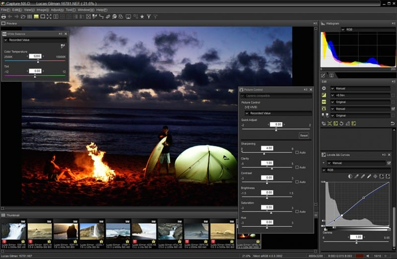 Nikon Capture NX-D a Nikonhoz - ingyenes képszerkesztő