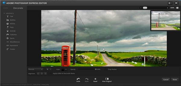 Photoshop Express - ingyenes képszerkesztő