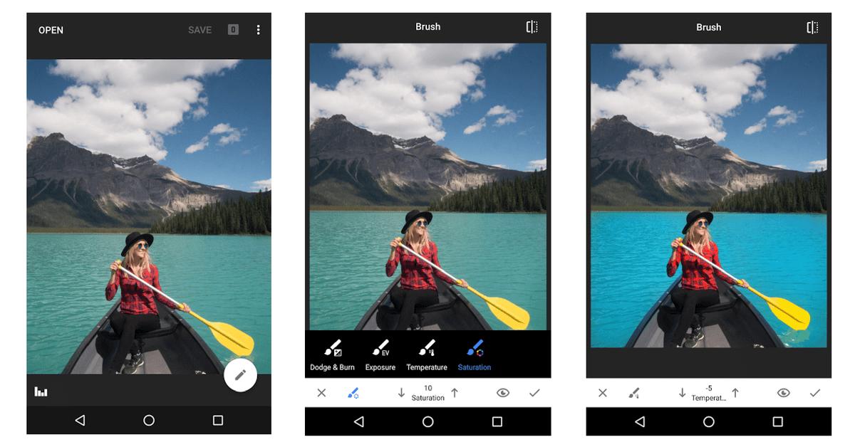 Snapseed képszerkesztő android rendszerre